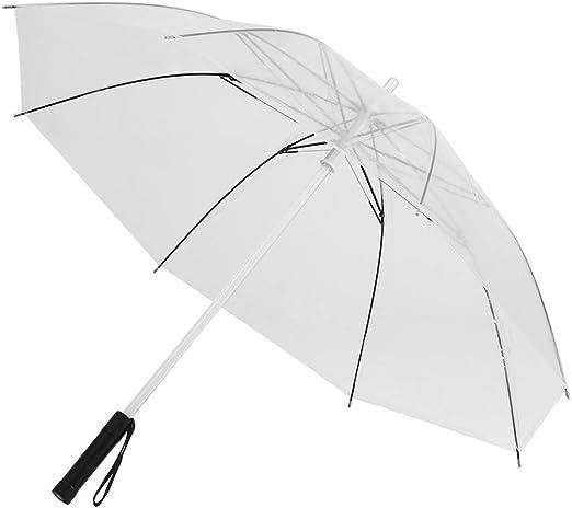 Hongzer Parapluie Automatique Transparent Trois Plis Parapluie de Voyage Transparent /à la Mode Parapluie de Pluie Transparent et Transparent