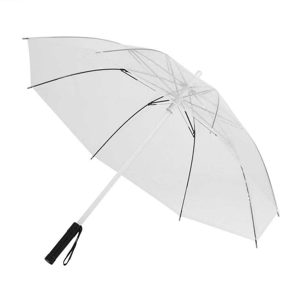 LED照明付き傘7色変更のゴルフ傘シャフトフラッシュライト夜間のウォーキング保護バッテリーPowered 透明 Fdit3ar579b6xt-02  透明 B078RN6572