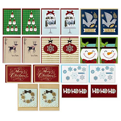 Hallmark Boxed Handmade Christmas Cards Assortment (Set of 20 Special Holiday Greeting Cards and Envelopes) (Birthday Cards Unicef)