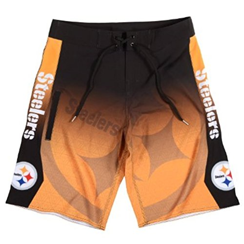 Nfl Team Boardshort (2015 NFL Football Mens Gradient Swimsuit Board Shorts - Pick Team (Pittsburgh Steelers, 34))