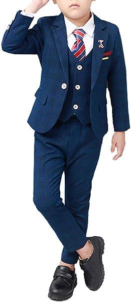 Amazon.com: Juego de trajes de vestir formales de cuadros ...