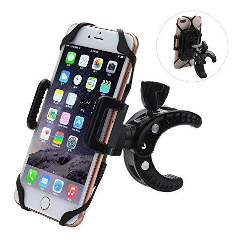 Bike Phone Mount Cycling Phone Mount Motorcycle Phone Mount Bicycle Phone Holder Handlebar Cradle Adjustable Fit for iPhone X/8/8 Plus/7/6s/6/5s/5c/Samsung S7/S6/S5/Note 5/4/3, HTC,Huawei