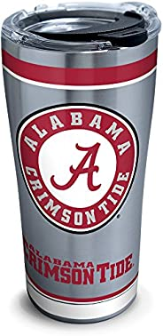 Tervis NCAA Alabama Crimson Tide Tradition Stainless Steel Tumbler with Lid, 20 oz, Silver