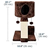 ♪ Animals Favorite Cat Condo Perch, Cat Tree with Scratch Post and Cat House, Ideal for Small Cats and Kittens ❣