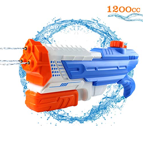 (Conthfut Water Gun Squirt Gun High Capacity 1200CC Soakers Blaster Squirt Toy Summer Soaking Guns Water Fighting Games for Boys Girls Age)