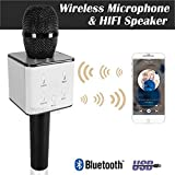 SBA Karaoke Wireless, Portable Handheld Singing Machine Condenser Mic And Bluetooth Speaker Compatible With All Smartphone - Black