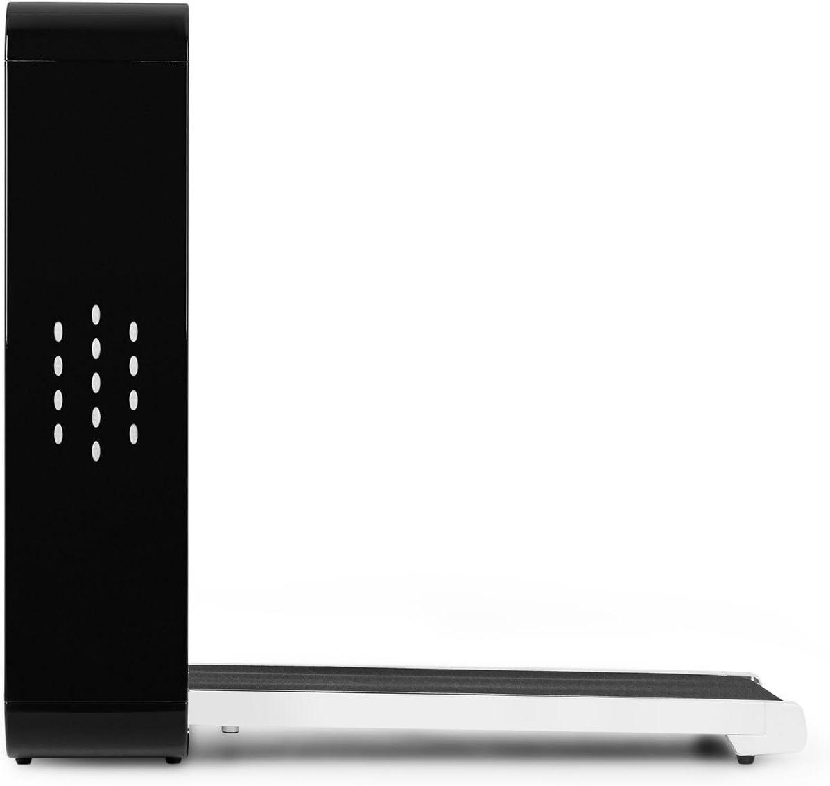 Streaming Wireless Home Trainer velocit/à Regolabile 0,8-10 km//h 1000W Bluetooth Arresto di Emergenza Archiviazione Facile Tapis roulant LED Pieghevole Klarfit Home Runtasy