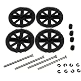 Katoot@ New Parrot AR Drone 2.0 Parts Motor Pinion Gear Shaft Set For RC Quadcopter Parrot AR Drone 2.0 Spare Part Black