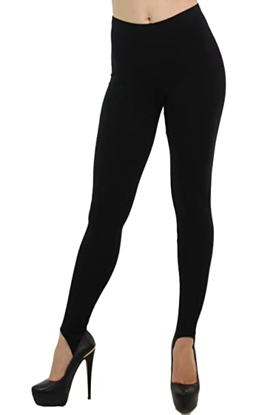 88ca007096df7 World of Leggings Made in The USA Basic Cotton Stirrup Leggings - Shop 3  Colors at Amazon Women's Clothing store: