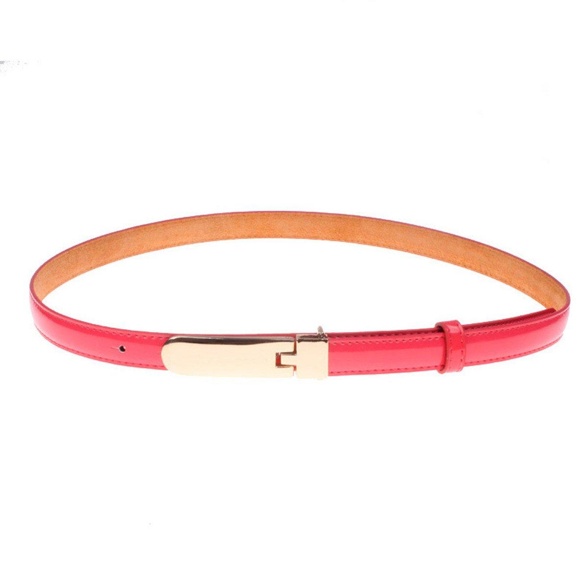 Salvaje Color Caramelo Charol Mujer Bien Cinturón Decoración Vestido ... 35cb0715dc31