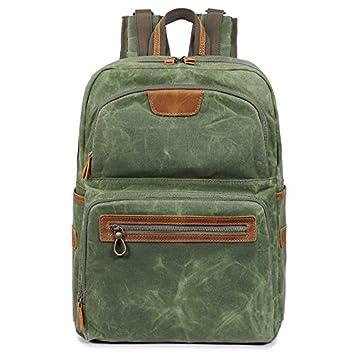 Mochila de viaje_E-Business Mochila Neutral Mens Lienzo Retro Bolsa de viaje macho 34cm*17cm*42cm, verdes: Amazon.es: Deportes y aire libre