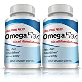 Omega Flex | 2 Month Supply of Breakthrough Joint Health Supplements | Contains Omega-3, Calamarine, 5-Loxin, and Fruitex-b | Can Increase Blood Flow and Lessen Joint Stiffness - By Marine Essentials