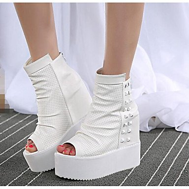 Occasionnel Confort Printemps Pu Féminins ggx Creepers Talons Lvyuan White xqwnfP1ZT
