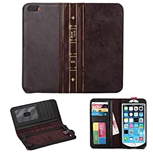 Deal4U High Quality Retro Vintage Old BOOK Style Flip PU Leather Wallet Case Cover for iPhone 6 iPhone6 Plus With Wakeup Sleep Function #-# Color#=For iPhone 6