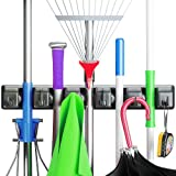 Image of Berry Ave Broom Holder and Garden Tool Organizer for Rake or Mop Handles Up To 1.25-Inches