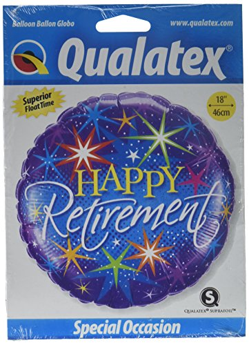 Qualatex Foil Balloon 37932 RETIREMENT COLORFUL BURSTS, 18