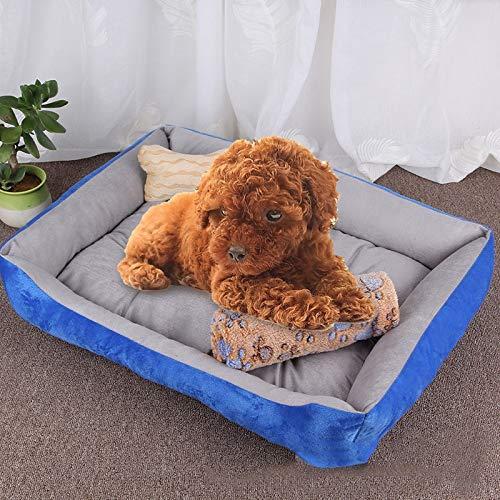 Light Grey YKDY Dog Bone Pattern Big Soft Warm Kennel Pet Dog Cat Mat Blanket, with Blanket Size  L, 80×60×15cm (Black Grey) (color   Black Red)