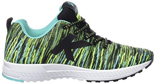 Kelme 63212, Zapatillas de Gimnasia Unisex Adulto, Varios Colores (Negro/Verde), 36 EU