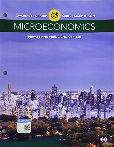 Bundle: Microeconomics: Private and Public Choice, Loose-leaf Version, 16th + Aplia, 1 term Printed Access Card