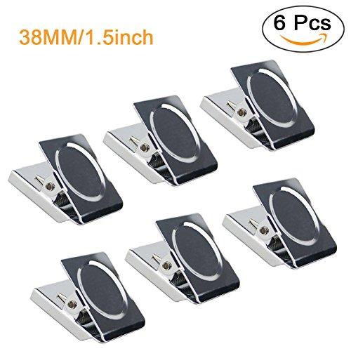 Dry Erase Binder (Ogrmar Refrigerator Whiteboard Wall Magnetic Memo Note Clip Metal Clip (Pack of 6) (Metal Clip 1.5-6))