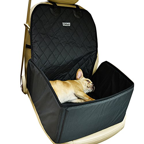 GO WILD Water-proof Collapsible Anti-static Pet Car Front Seat Cover Dog Cat Puppy Seat Protector Mat Blanket Black