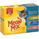 Meow Mix Poultry and Seafood Variety Pack Wet Cat Food, 2,75-Ounce (pack of 12)