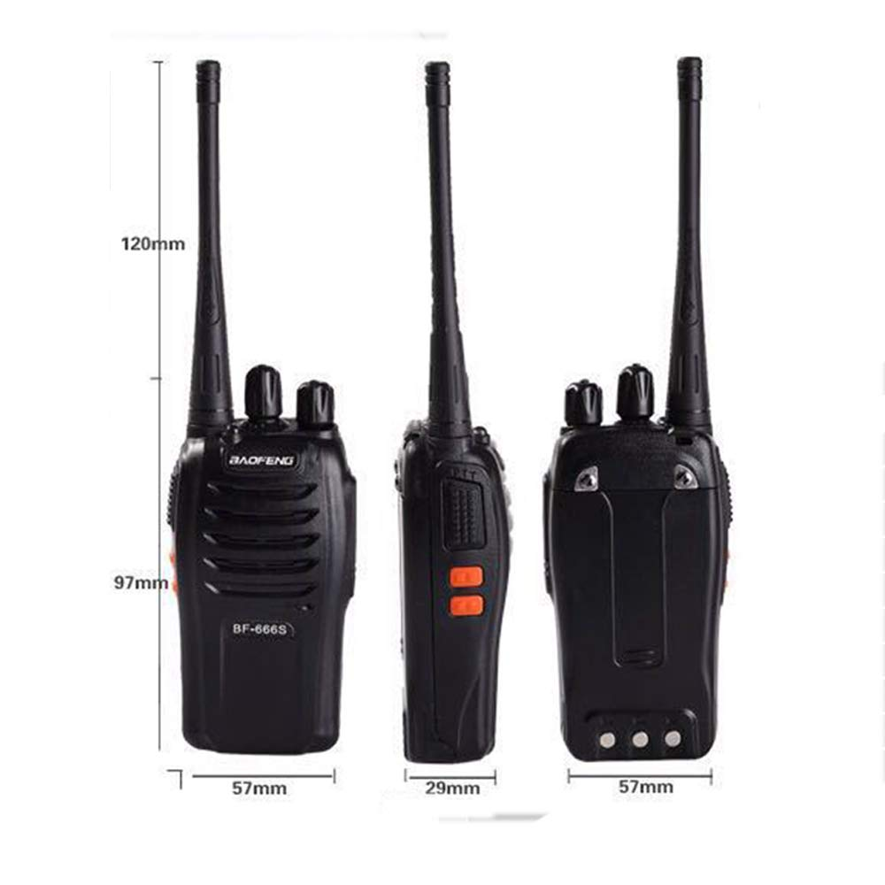 Walkie Talkie Two Way Handheld FM Transceiver 5 Miles Range 1500mAh Li-ion Battery 16CH USB Charger