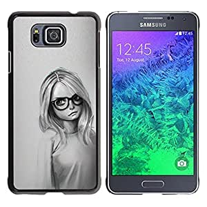 Stuss Case / Funda Carcasa protectora - Muchacha Con Los Vidrios - Samsung ALPHA G850
