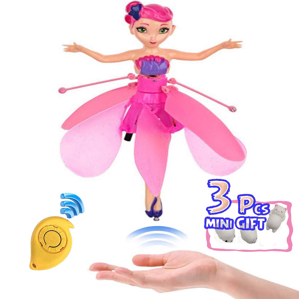 Minaliv Flying Fairy Doll Girl Infrared Sensor Control Remote Control Child Toy Flying Princess Doll,Birthday Holiday Xmas Party Supplies(Pink ) by Minaliv