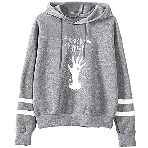 KLFGJ Women's Long Sleeve Hoodies for Halloween Casual Pullover Hoodie Sweatshirt]()