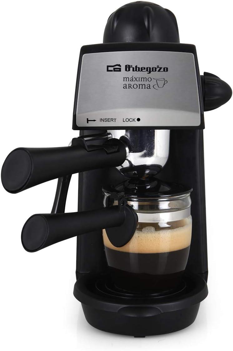 Orbegozo EXP 4600 - Cafetera a presión, capacidad 2-4 tazas, bandeja de goteo extraíble, vaporizador, jarra de cristal, 870 W: Amazon.es: Hogar