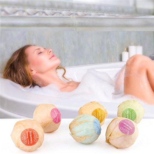 Nesee Organic Bath Bombs Bubble Essential Oil Handmade SPA Stress Bath Salts Ball (Multicolor) - Brushed Custom Rack Shelf