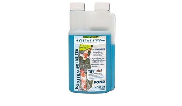 aquality de purificador de agua Pond 500 ml (Jardín Agua de estanque cuidado y aufbereiter con aloe vera + Vitamina ...