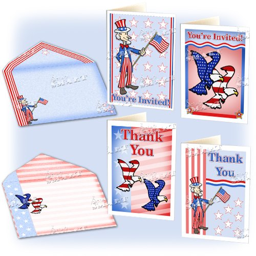 Scrapsmart - Patriotic Party Software Kit - Jpeg, Pdf, and Microsoft Word Files (CDPATPA170) by STORE SMART (Image #5)