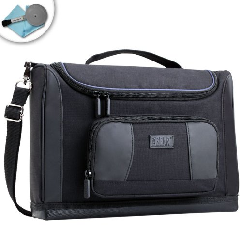 USA Gear Large Professional Portable Projector Carrying Case and Travel Bag -Works For NEW PG65U / HP AX325AA Notebook / Favi RioHD / AAXA P300, P4X Pico / Optoma W304M and Many More Small Travel Projectors