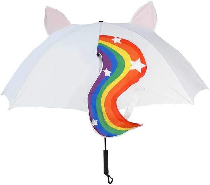 Kawaii Einhorn mit Regenbogen Schwanz Regenschirm