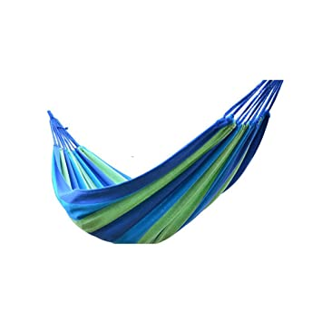 Santfe Portable Outdoor Leisure Cotton Fabric Hammock for Travel Camping Backpacking Kayaking,2 Person 331lbs