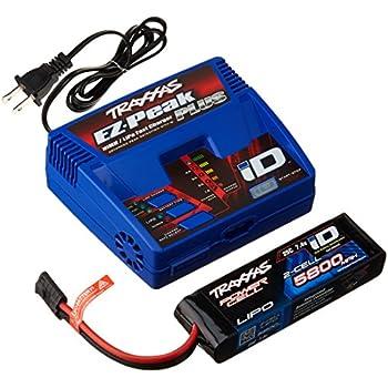 amazon com traxxas 5800mah 7 4v 2 cell 25c lipo battery toys games rh amazon com