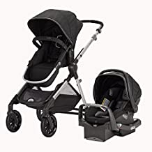 Evenflo Sibby Travel System with LiteMax Infant Car Seat Black, 56241975C