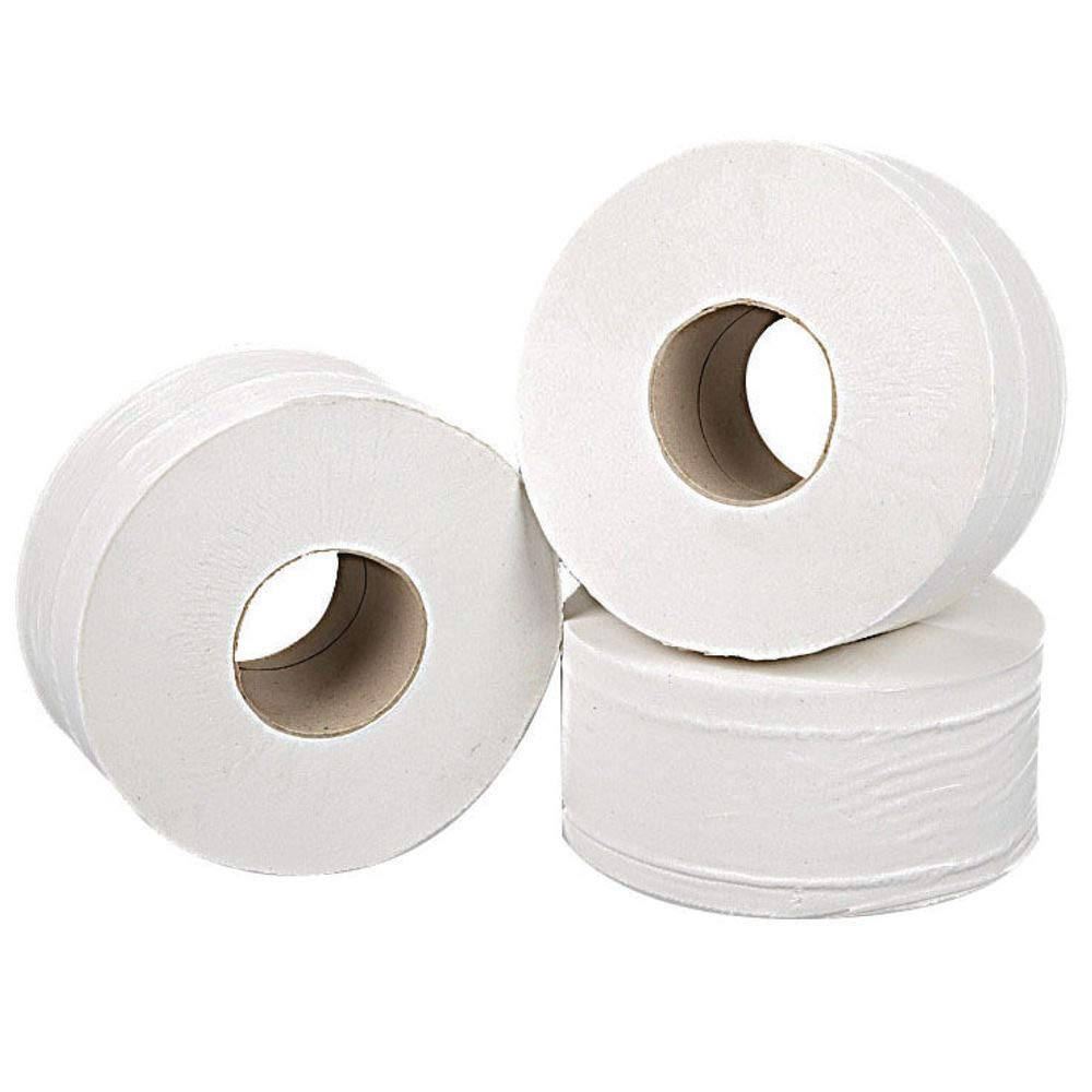 Pack of 12 92 mm x 200 m 2WORK 2W70323 J27200 Mini Jumbo Roll 2-Ply White