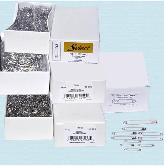 """1,440 Pins 2/"""" #3 Safety Pins ~ Gold ~ 1 Box"""