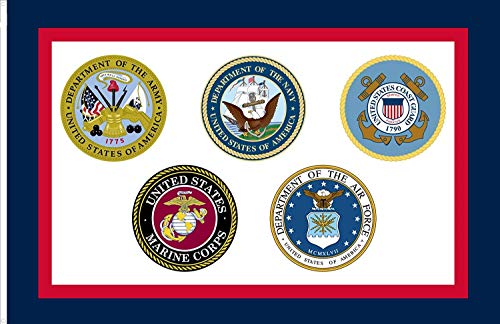 (FayLagee-yx United States Armed Forces Flag, Nylon 3'x5' Banner)