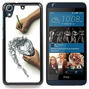 Jordan Colourful Shop - cool draw sketch careful think spill For HTC Desire 626 & 626s - < Personalizado negro cubierta de la caja de pl??stico > -