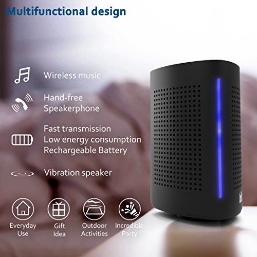 Bluetooth Computer Speaker – Wireless Bluetooth Speaker – Bluetooth Speaker for Women Men – Audio Bluetooth Speaker for iPhone Android Laptop – True Wireless Speakers – Portable Bluetooth Speakers by Bitzen (Image #2)
