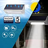 Solar Lights 48 LED Super Bright Wireless Water Proof Solar Lights Outdoor Radar Motion Sensor Lights Aluminum Housing for Outdoor Security Yard Patio Fence Path Driveway Garage Porch Wall Lights