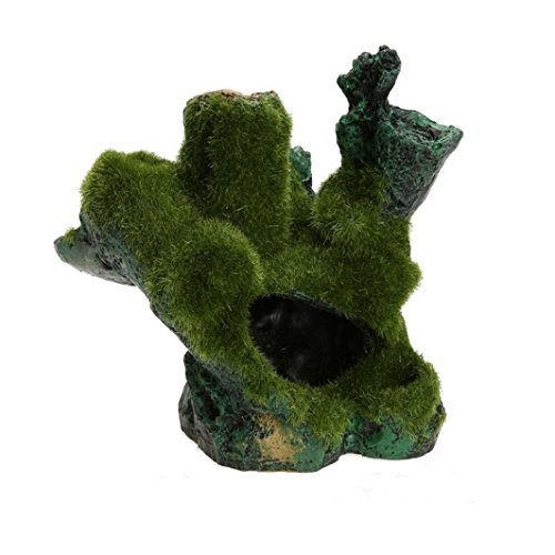 Vibola® Fish-cylinder Flocking Moss-imitation Wood Decorated with Fake Mountain