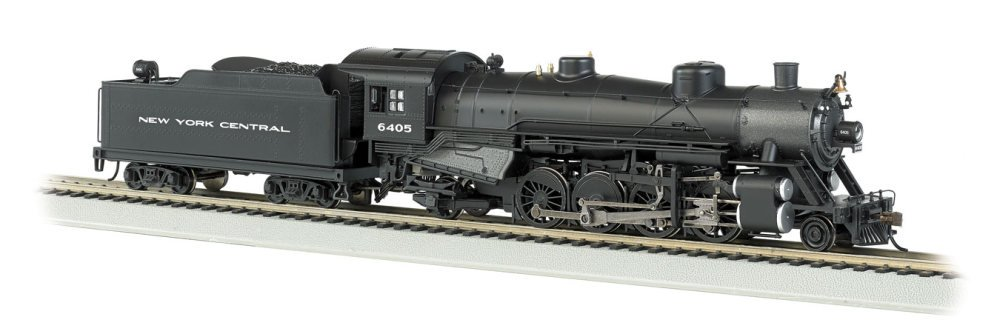 Bachmann Industries Trains Usra Light 2-8-2 Dcc Sound New York Central 6405 Medium Tender Ho Scale Steam Locomotive
