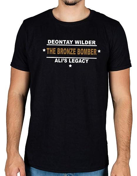 6a6da82737de Amazon.com: Deontay Bronze Bomber Wilder Ali Legacy Slogan T-Shirt: Clothing