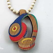 Rima Imar Beats Wood Colored Beaded Necklace Fashion Jewelry
