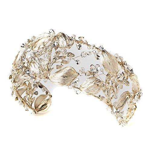 Light Gold Crystal Princess Bridal Tiara,Crystal Tiaras Headpieces,Bridal Headpieces Tiaras,Wedding Headpieces Tiaras,Prom Tiaras by Rodeo Couture Bridal